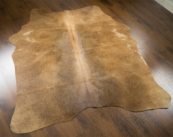 Classic Milky Brown Mini-Cowhide  OG-107  size 4' x 3'10''