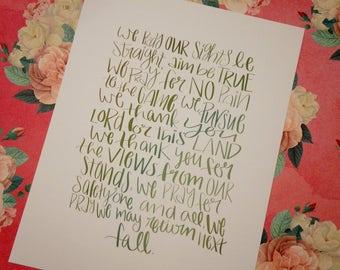 Hunter's Prayer - Cardstock Print!