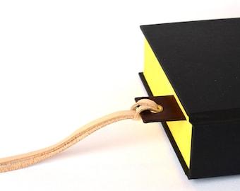 """Leather Bookmark - Personalised Bookmark - Dark Brown - """"Aethelred"""" - Handmade in UK"""