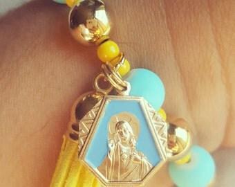 Sky Blue Matte Finish Bracelet