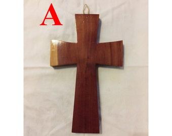 Large traditional cedar cross, wooden cross, cedar cross