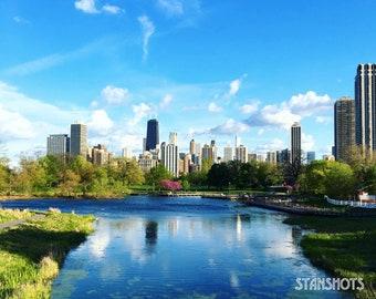 Springtime Chi Print - Lincoln Park, Chicago