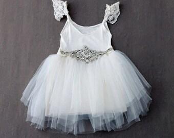 Princess crystal sash dress