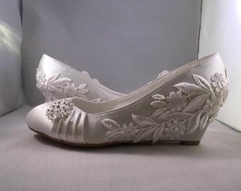 Penelope (bridal wedding wedge heel shoes)