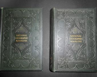 Set of National Geographic Magazine Hardback Books, 1955, Volume 107 & 108