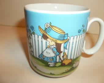 Vintage Childrens Cup Little Girl Joan Walsh Anglund 1969 West Germany