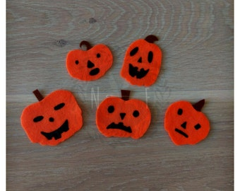 Five Scary Pumpkins Felt Song