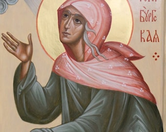 St. Xenia of Petersburg Byzantine icon Orthodox icon egg tempera