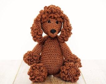 Poodle, Crochet Poodle, Made to Order, Handmade Toys, Stuffed Animals, Amigurumi Poodle, Handmade Crochet Toys, Livlandiawithlove