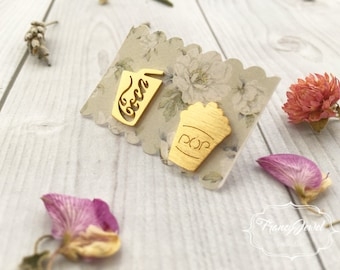 Pop earrings, gold earrings, gold plated coca cola, stud earrings, drink earrings, funny earrings, cooking jewelry, birthday gifts