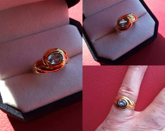 Old ring aquamarine and gold - Present - Valentines day