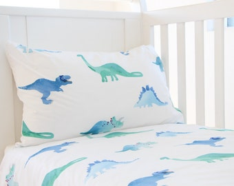 Dinosaur Duvet Cover - Toddler Duvet Cover - Twin Duvet Cover - Duvet Cover Dinosaurs - Boys Duvet Cover - Kids Bedding - Dinosaur Bedding