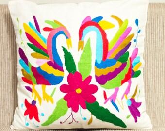 Mexican Otomi Tenango Pillow Cover