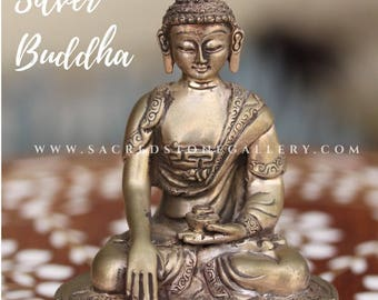 Silver 925 Sitting Buddha Statue