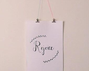 Rejoice A3 Illustration