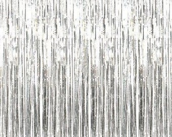Silver Foil Curtain - Party Backdrop | New Years | Birthday Party Decor