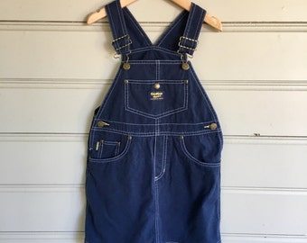 SALE Vintage OshKosh Denim Children's Pinafore Dress Overall