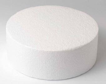 Dummy round Ø 20 cm, height 7 cm Polystyrene FUNCAKES Support