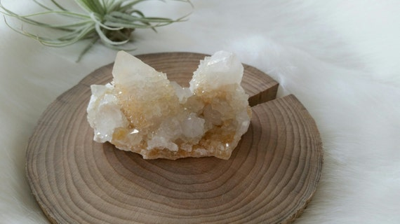 White Citrine Spirit Quartz Cluster - ITEM #102 - 6.2 x 3 x 3.3cm