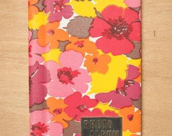 VINTAGE Floral Photo Album