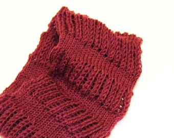 Detailed knit snood