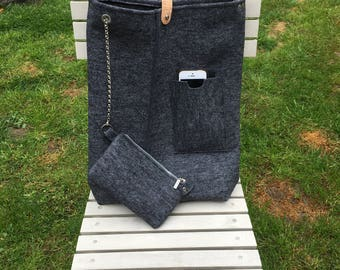 Top modern Tote with Natelfach and wallet
