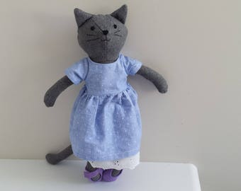 Rag Doll Cat, Stuffed Animal Cat Doll, named Fleur