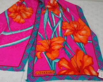 Flora Kung, silk, vintage scarf for spring.