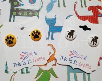 Animal Perler Bead Earrings - Dog, Paw Print, Dinosaur, Butterfly, Monkey, Frog