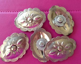 Conchos silver plated