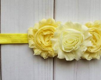 Yellow Flower Headband/Spring Headband/Infant Headband/Toddler Headband/Flower Headband/Floral Headband/Baby Girl Headband/Summer Headband