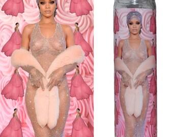 Rihanna Prayer Candle / Rihanna Eco Friendly Sustainable Prayer Candle / Rihanna Feminist Candle Gag Funny Gift / Rihanna Pop Culture Gift