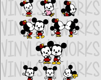 Mickey and Minnie SVG File Pack