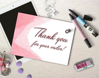 Thank for your purchase card, Thank you for your order, Printable Thaпnk you card. Appreciation card.