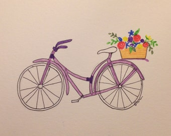 Darling Bicycle Print