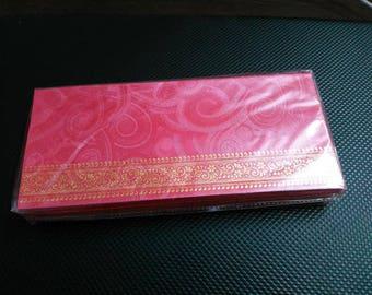 25 Lucky Money Envelopes, Handwritten Money Envelope for Money Check Gift Thanks giving Diwali Festival, Wedding Gifts Red Envelopes