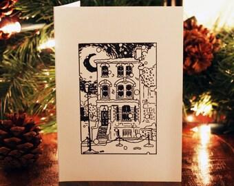 Christmas card stamp