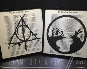Harry Potter | Deathly Hallows | Three Brothers | Tale of Three Brothers | Harry Potter Frame | Framed Art | Harry Potter Framed Art