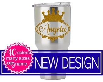 Glitter Yeti Tumbler, Princess Tumbler Decal, Princess Stickers for Yeti Cup, Crown Decal for Yeti, Princess Crown DECAL ONLY 5LN6Y