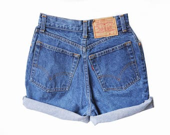 Levi high waisted denim shorts | Etsy