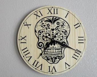 Day of the Dead Skull Clock