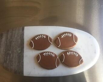 Football cookies sugar cookies