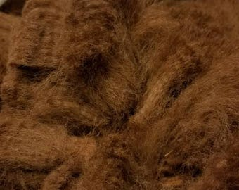 Raw Alpaca Fiber, Huacaya, Brown (Yoda)