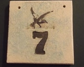 Ceramic House Number Stoneware House Number Stoneware House Sign Stoneware Plaque Bespoke House Number