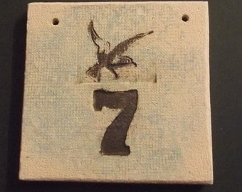 Ceramic House Number, Stoneware House Number, Stoneware House Sign, Stoneware Plaque, Bespoke House Number