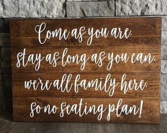 Wedding Seating Sign, Wedding Decor, Wedding Ceremony Sign, Wedding Sign, Rustic Wedding, Rustic Chic Wedding, Customizable Sign