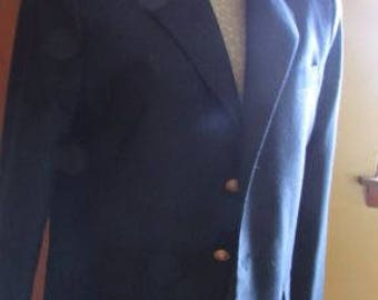 Boys navy blue blazer, worn once, size 16 by Claiborne, 65 poly, 15 wool, 3 gold buttons