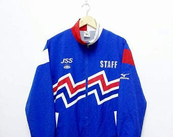 Hot Sale!!! Rare Vintage 90s MIZUNO Multicolour Windbreaker Jacket Hip Hop Skate Swag Medium Size