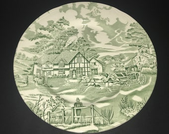 """English Style """"The Copperfield"""" plate - Green"""