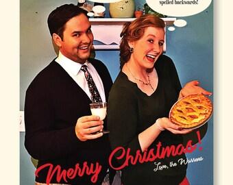 Funny Retro Christmas Card